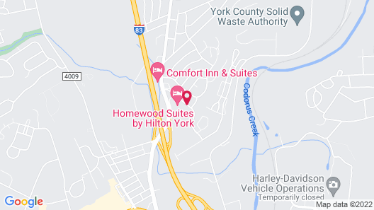Homewood Suites By Hilton York Map