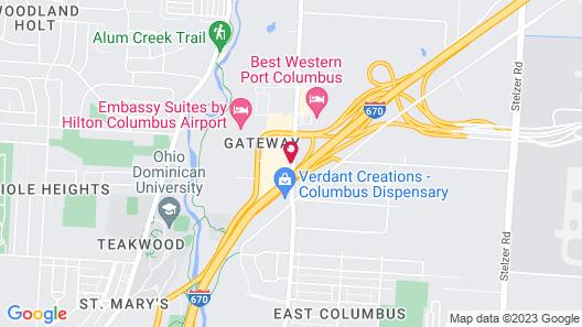 Columbus Airport Marriott Map