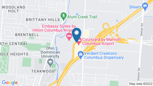 Courtyard by Marriott Columbus Airport Map