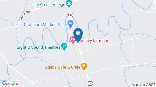 The Inn at Hershey Farm Map