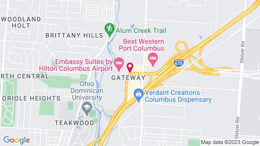 Staybridge Suites Columbus-Airport, an IHG Hotel Map