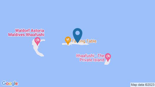 Waldorf Astoria Maldives Ithaafushi Map