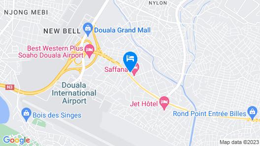 Saffana Hôtel Map