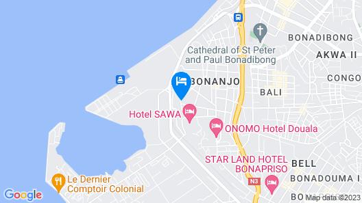 Douala Rabingha Hotel Map
