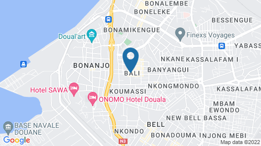 Douala Design Hotel Map
