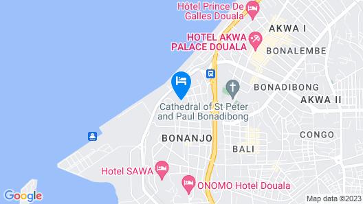 Hôtel La Falaise Bonanjo Map