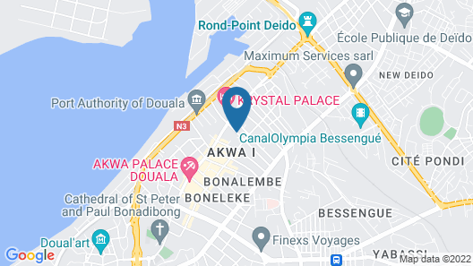 Hôtel Lumière D'Akwa Map
