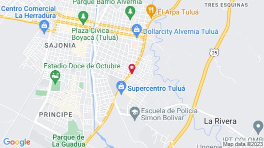 Hotel Corona Real Tuluá Map