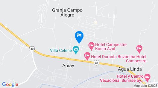 Cabañas El Samán Map