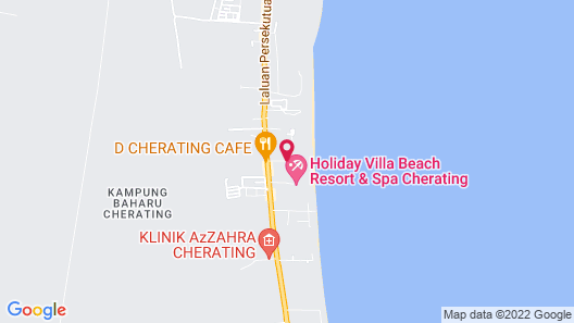 Legend Cherating Beach Resort Map