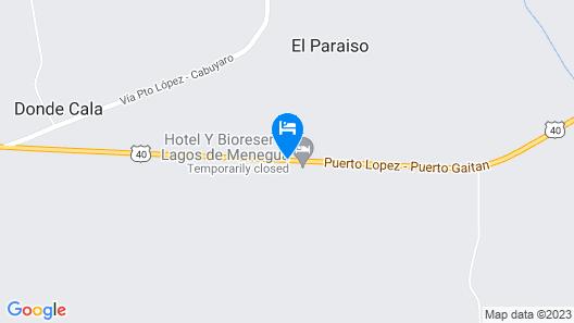 Hotel Lagos de Menegua Map