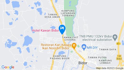 Hotel Kawan Bidor Map