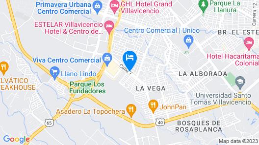Vitrips Hostel Villavicencio Map