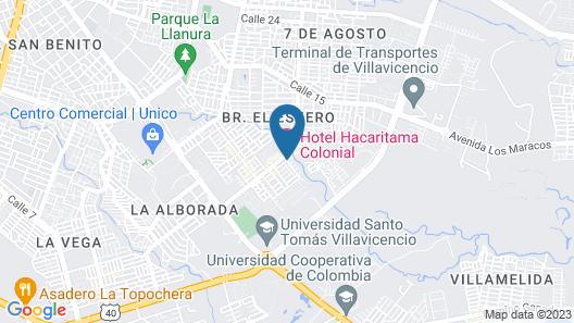 Hotel Hacaritama Colonial Map