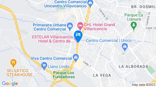 Estelar Villavicencio Hotel & Centro de Convenciones Map