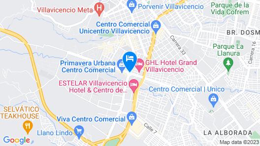 Hotel Casa Real Villavicencio Map