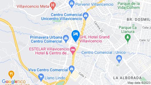 GHL Hotel Grand Villavicencio Map