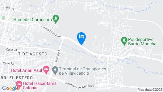 Hotel Campestre El Campanario Map