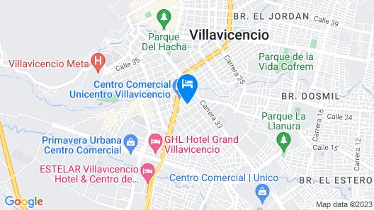 Hotel El Caimito Map