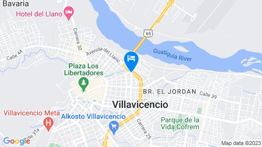 Hotel Ayenda Suramericano Map