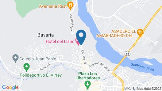 Hotel Del Llano Map
