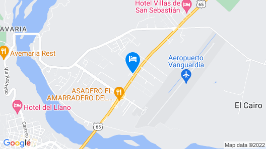 Hotel Vanguardia Real Map