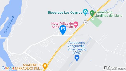 Hotel Campestre La Herradura Map
