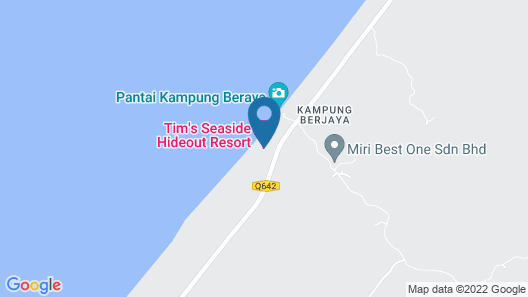 Tim's Seaside Hideout Resort Map