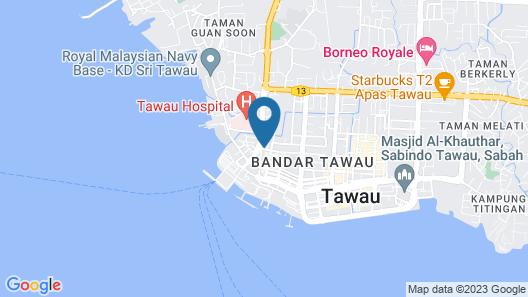 Hotel Emas Tawau Map