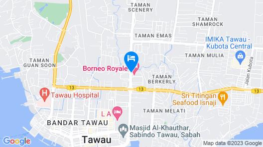 Borneo Royale Hotel Map