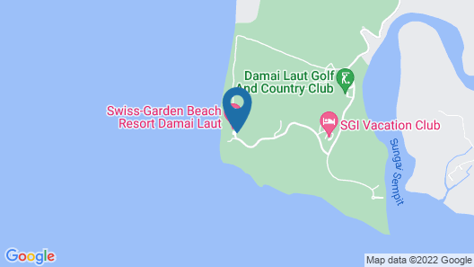 Swiss-Garden Beach Resort Damai Laut Map