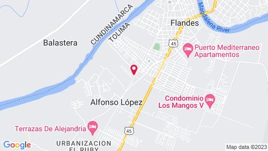 Casa con Piscina Privada y Jacuzzi Villa Ensueño Map