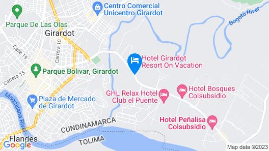 Hotel On Vacation Girardot Resort Map