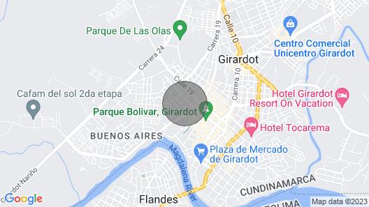 Alquiler DE Casa Campestre CON Piscina Privada A 7 Minutos DE Girardot Map