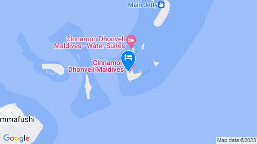 Cinnamon Dhonveli Maldives Map