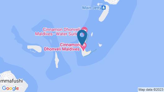 Cinnamon Dhonveli Maldives-Water Suites Map