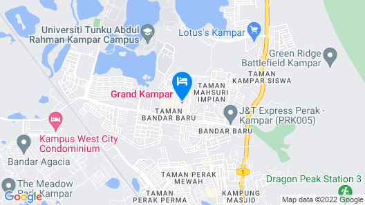 Grand Kampar Hotel Map