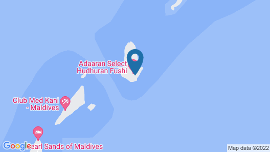 Adaaran Select Hudhuran Fushi Map