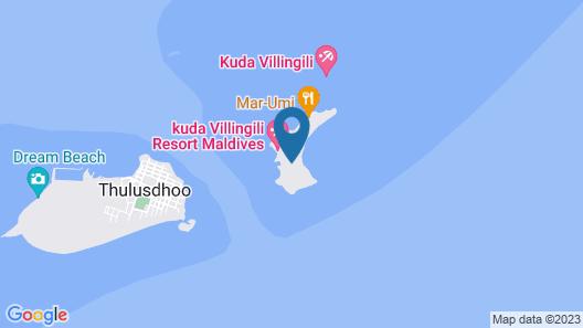 Kuda Villingili Resort Maldives Map