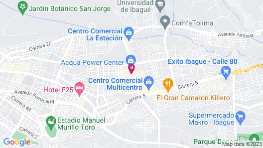Sonesta Hotel Ibague Map