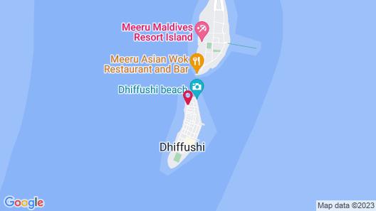 Crown Beach Hotel Maldives Map