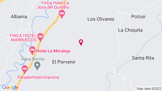 Finca Hotel La Joya Map