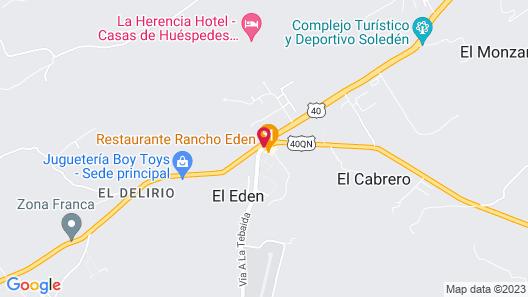 Hotel Barranqueros Map