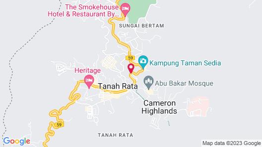 Smokehouse Hotel Cameron Highlands Map