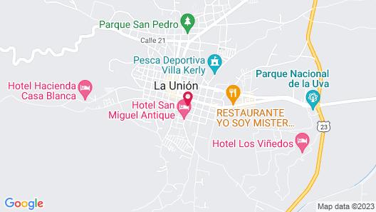 hotel hacienda casa blanca Map
