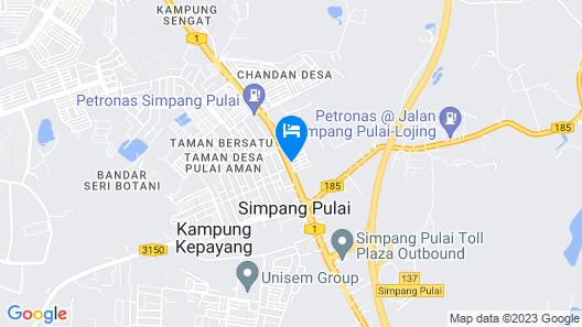 OYO 1163 Hotel Pulai Map