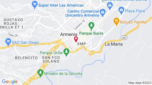Hotel Bolivar Plaza Map