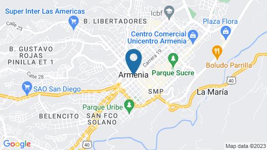 Luxury Apartament in Armenia Quindio Colombia Map