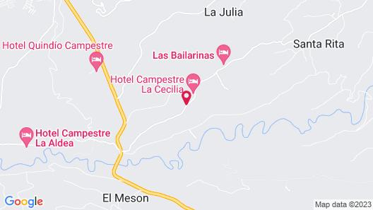 Finca Hotel La Manuela Map