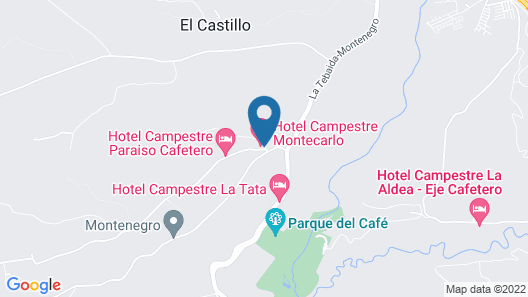 Hotel Campestre Montecarlo Map